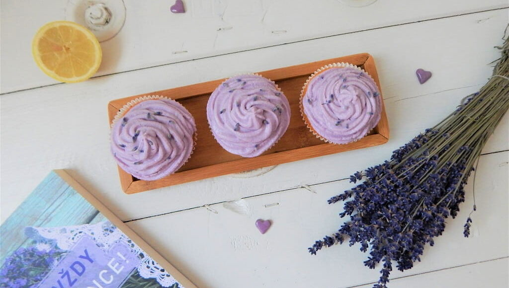 levandulové cupcakes s citronem