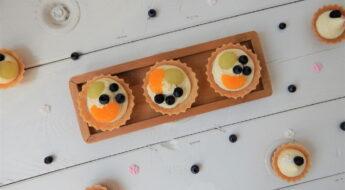 ovocné košíčky s vanilkovým krémem