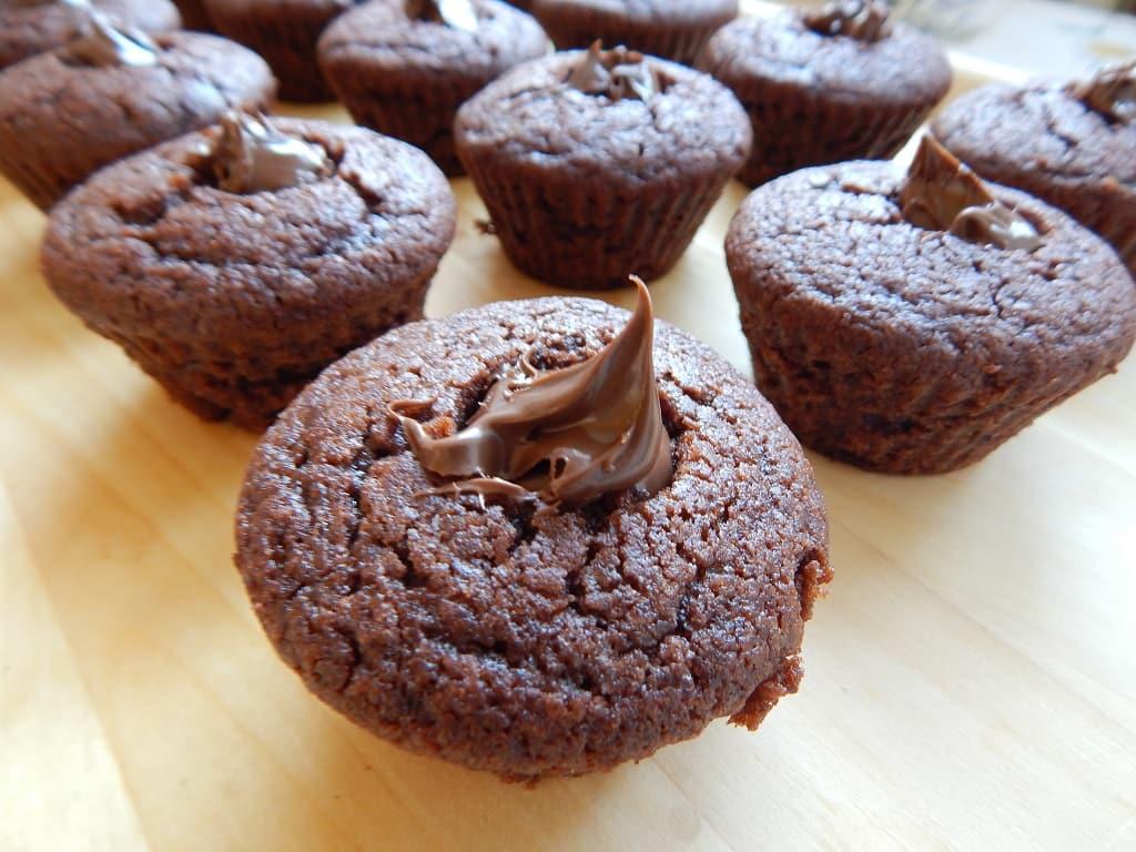 čokoládové cupcakes plněné nutellou