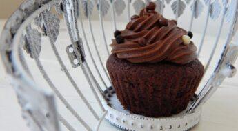 čokoládové cupcakes s nutellou