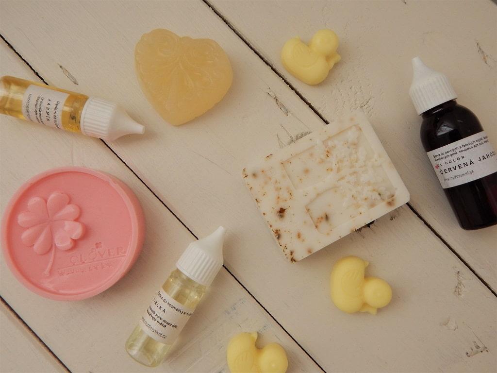 vůně a barviva do mýdel a kosmetiky, mýdlová hmota