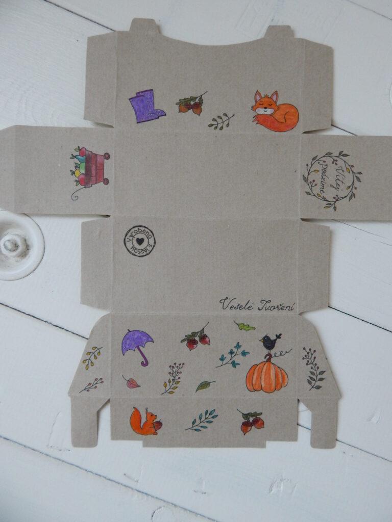 krabička od čaje s podzimními motivy