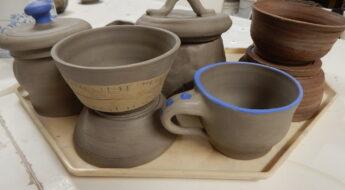keramické výrobky z točení na kruhu