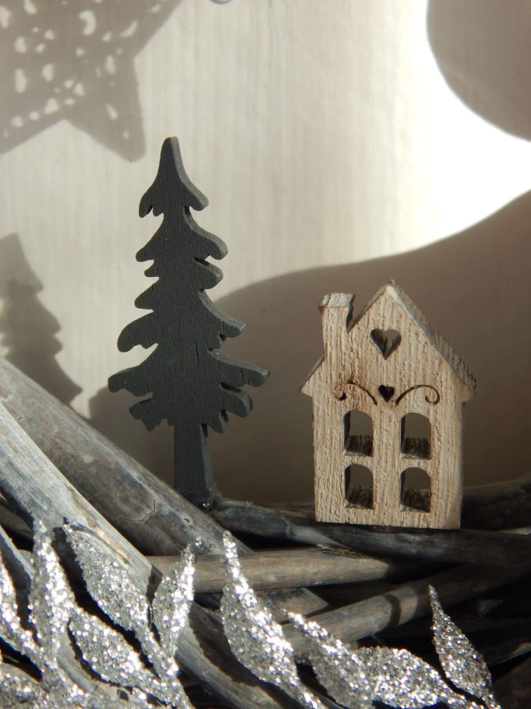 dřevěné vánoční dekorace