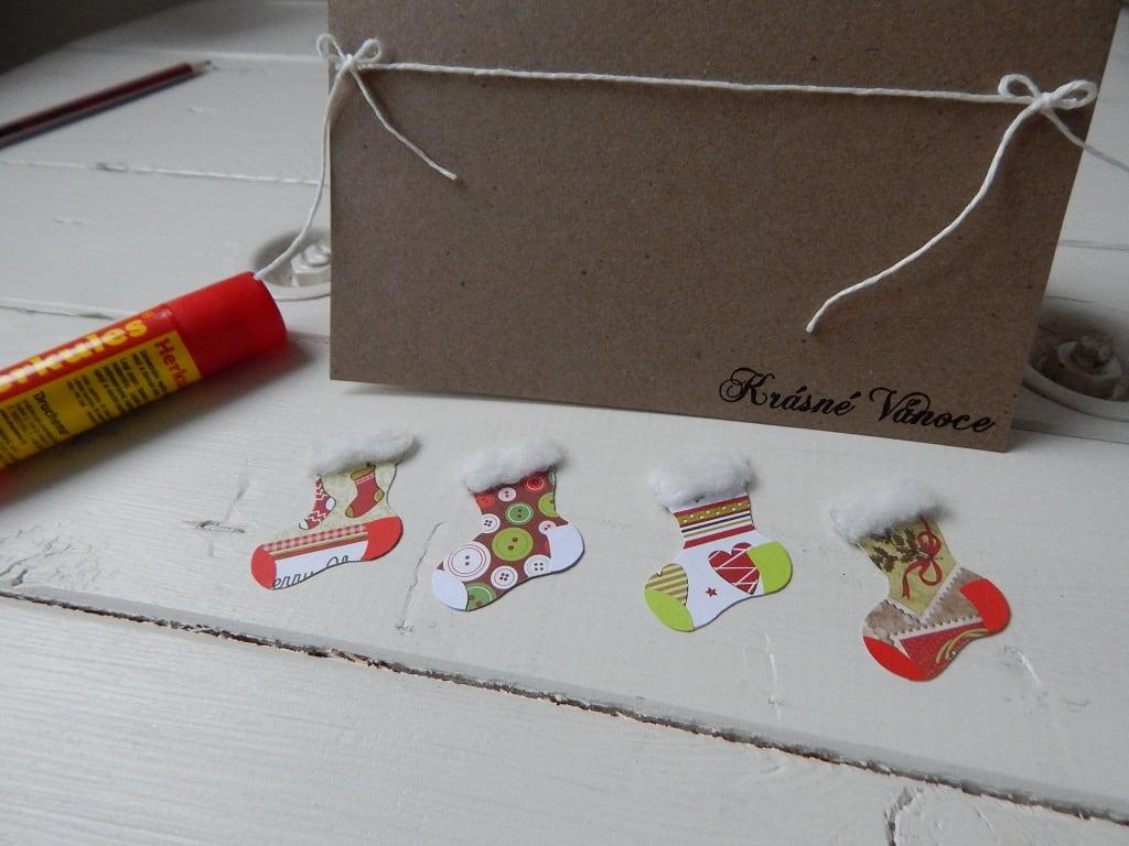 postup výroby vánočního přáníčka