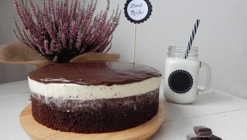tvarohový dort míša s mlékem