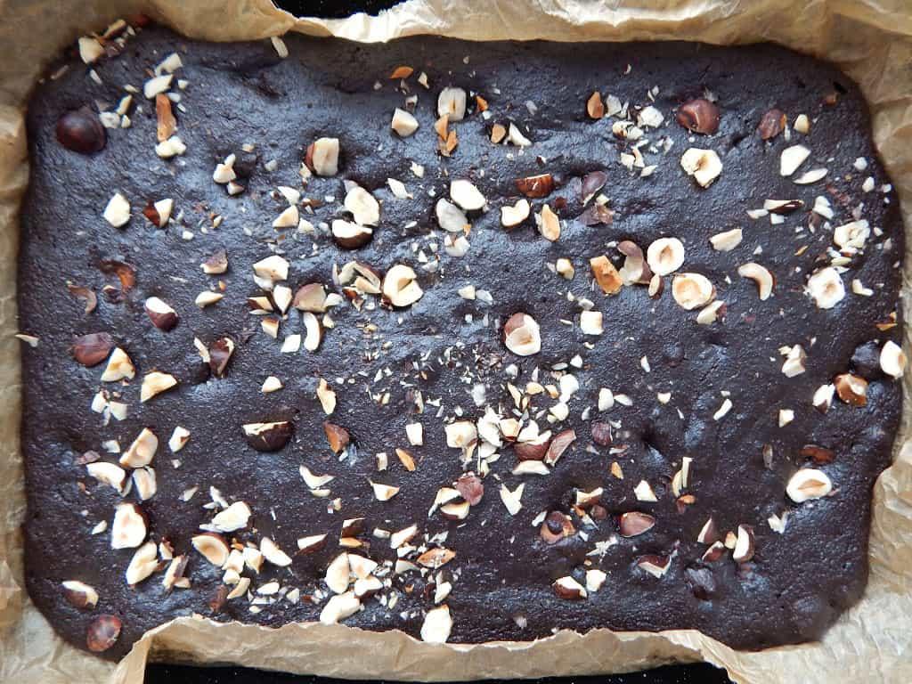 batátové brownies po upečení