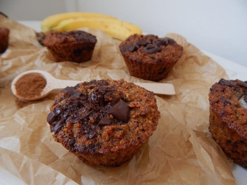 banánové muffiny se skořičí
