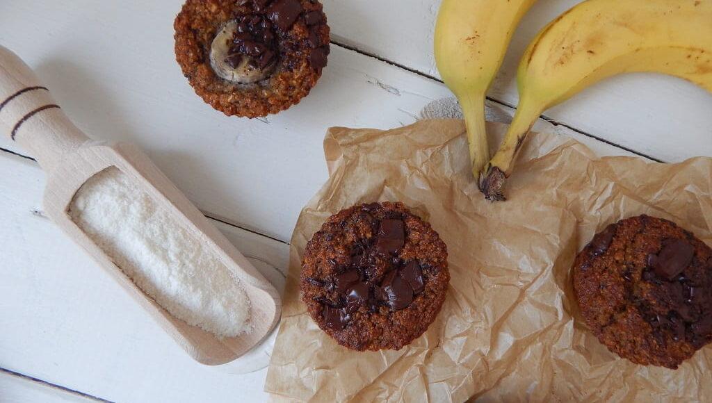 banánové muffiny z kokosové mouky