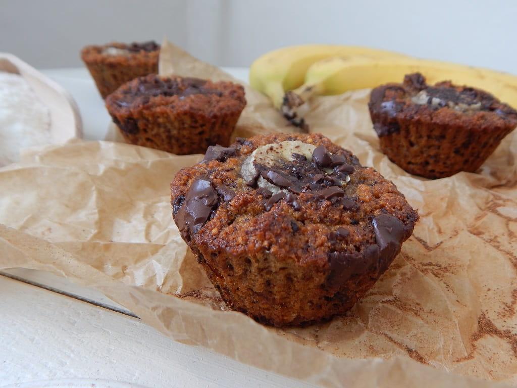 banánové muffiny s medem