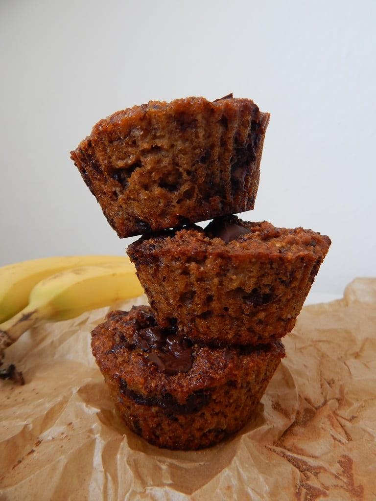 banánové muffiny s kokosem